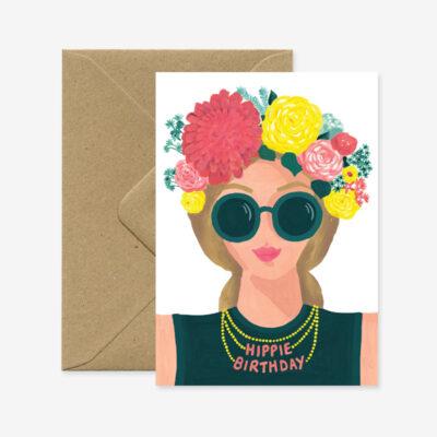 Hippie Birthday, Glückwunschkarte