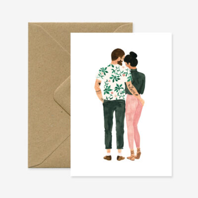 "Glückwunschkarte ""Loving Hipsters"""
