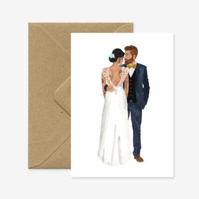 """Glückwunschkarte Hochzeit """"Married Lovers"""""""