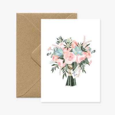 "Glückwunschkarte ""Blumenbouquet - With Love"""