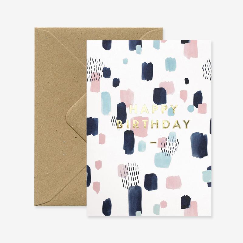 """Glückwunschkarte """"Happy Birthday Joy"""""""