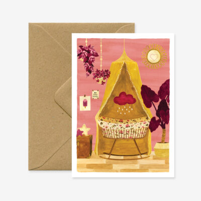 "Glückwunschkarte ""Baby"", rosa"
