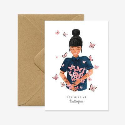 """Liebeskarte """"Schmetterlinge"""""""