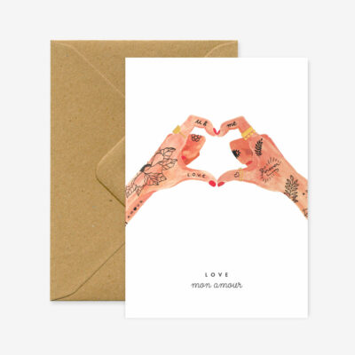 "Liebeskarte ""Hands of Love"""