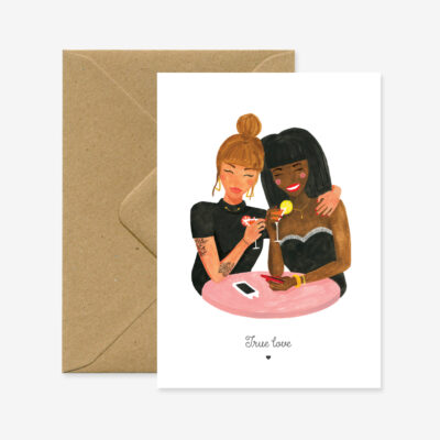 """Grußkarte """"Wahre Liebe"""""""