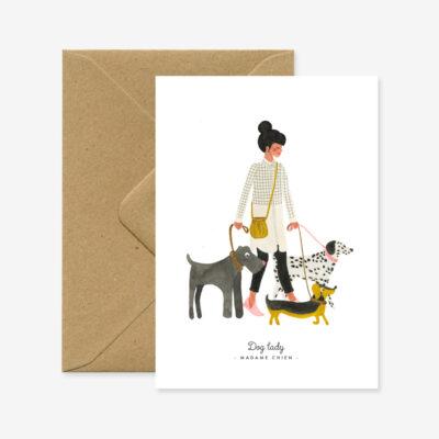 "Karte ""Hunde Lady"""