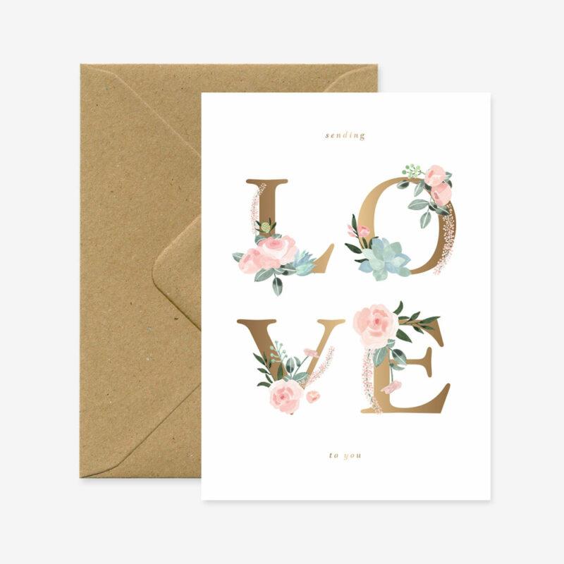 "Grußkarte ""Love Letters"""