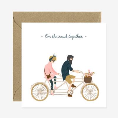 """Grußkarte """"On the Road Together """""""