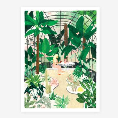 "Poster ""Schmetterlingshaus"""