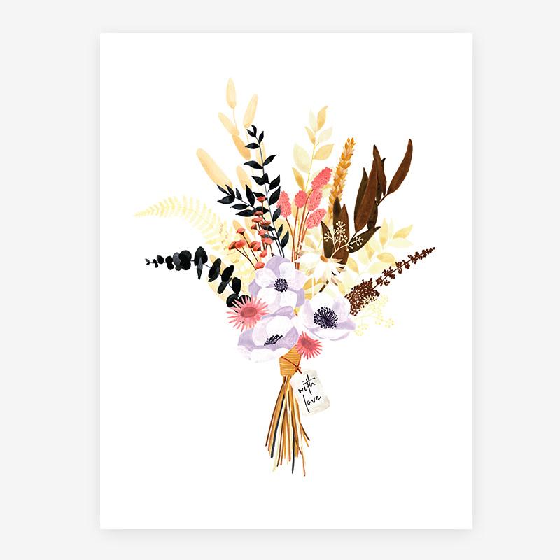 "Poster ""Boho-Blumenstrauß"""