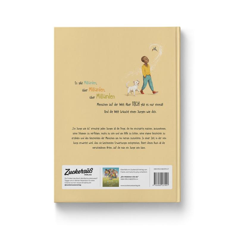 """Buch """"Ein Junge wie du"""" Ansicht Rückseite"""