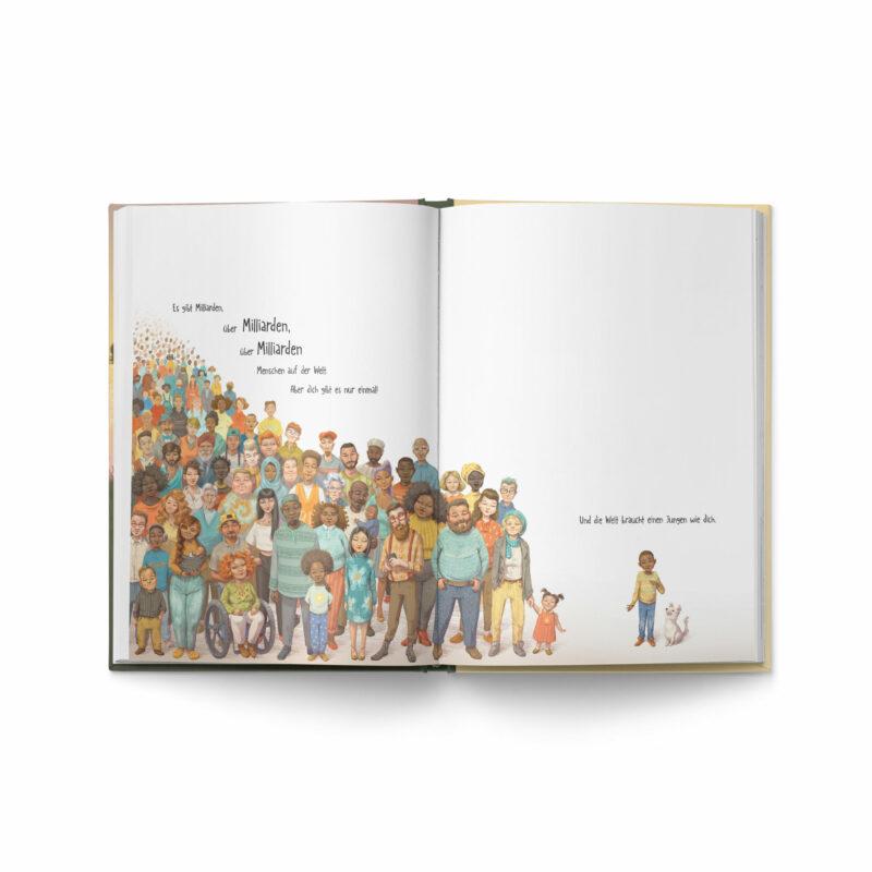 """Buch """"Ein Junge wie du"""" Innenansicht"""