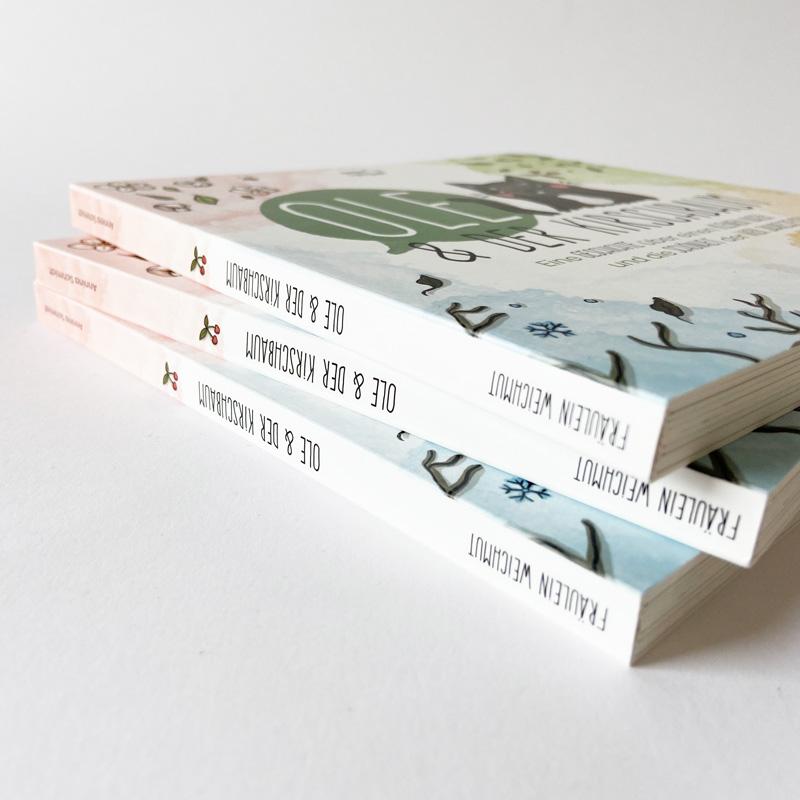 """Kinderbuch """"Ole und der Kirschbaum"""" - Buchrücken"""