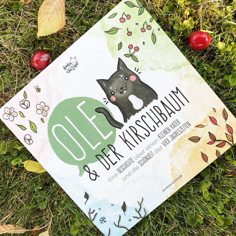 """Kinderbuch """"Ole und der Kirschbaum"""" - Titel mit Kirschen"""