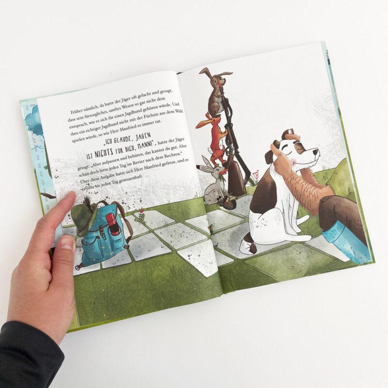Kinderbuch-Herr Manfried und der Papadu_Innenseite Herr Manfried