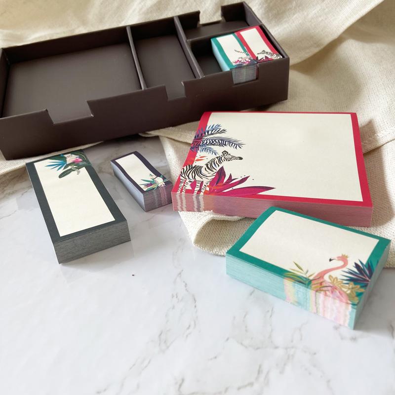 Klebezettel-Box-einzelne Blöcke