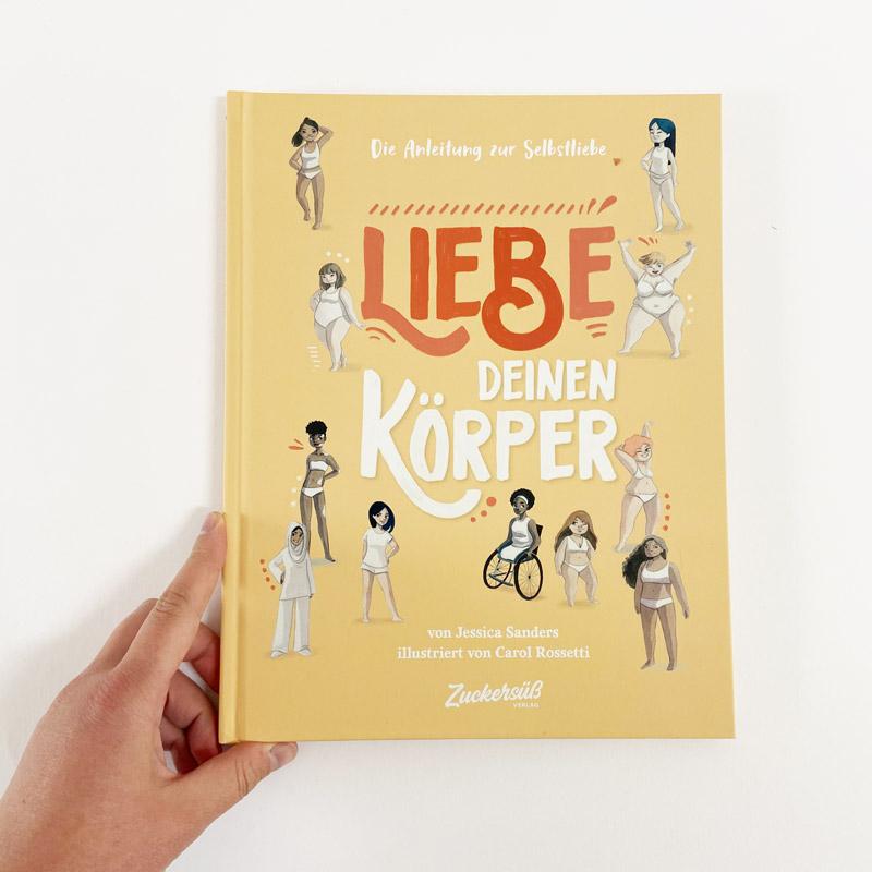 """Buch """"Liebe deinen Körper"""" Cover mit Hand"""