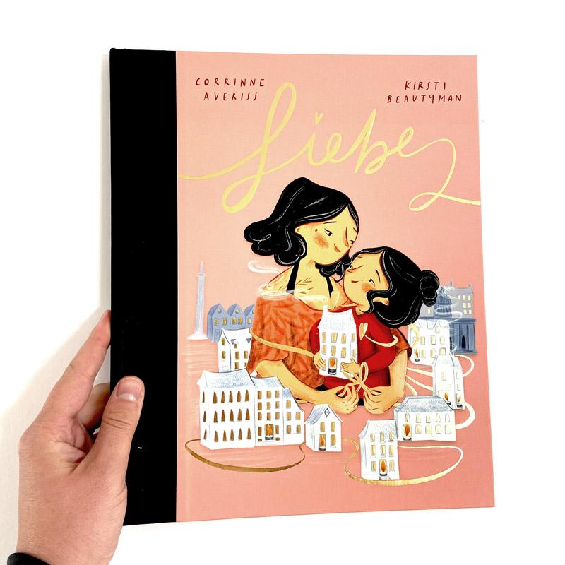 "Kinderbuch ""Liebe"" Cover mit Hand"