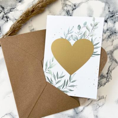 Rubbelkarte Herz mit Umschlag