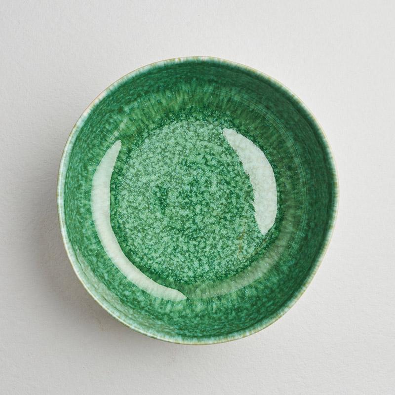Salatschüssel Grün Ansicht von oben