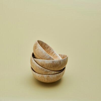Schale Golden Mini-Seitenansicht gestapelt