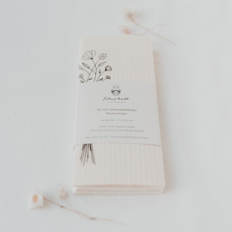Schwammtuch Blumenliebe - verpackt
