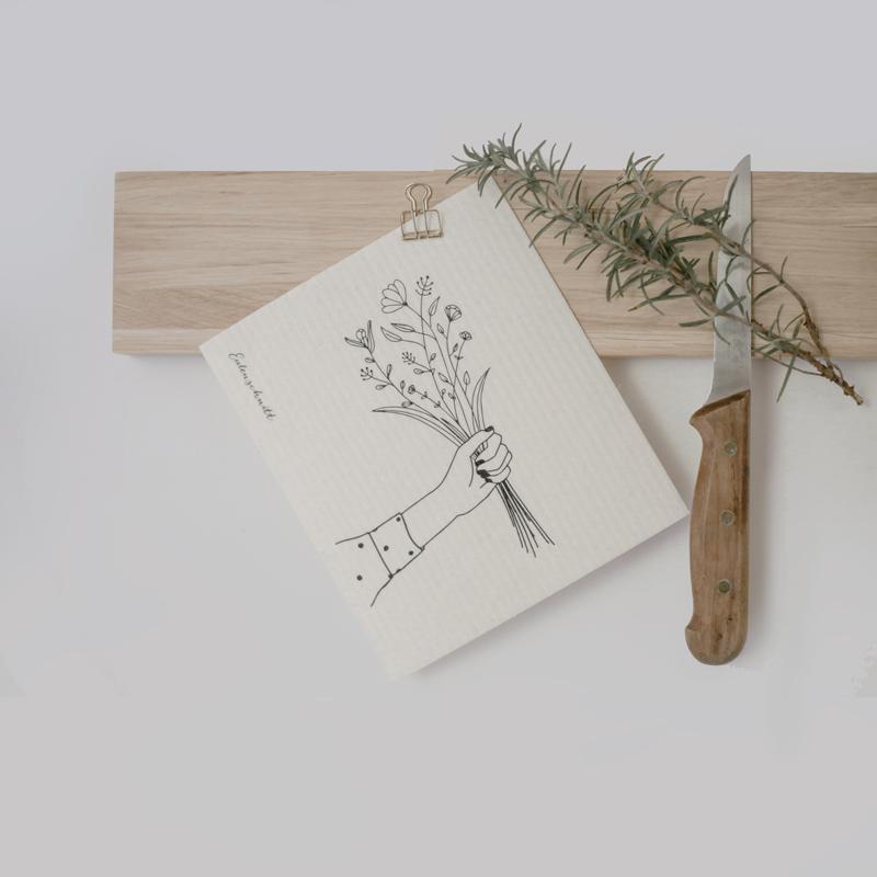 Schwammtuch Blumenliebe - Blumenstrauß