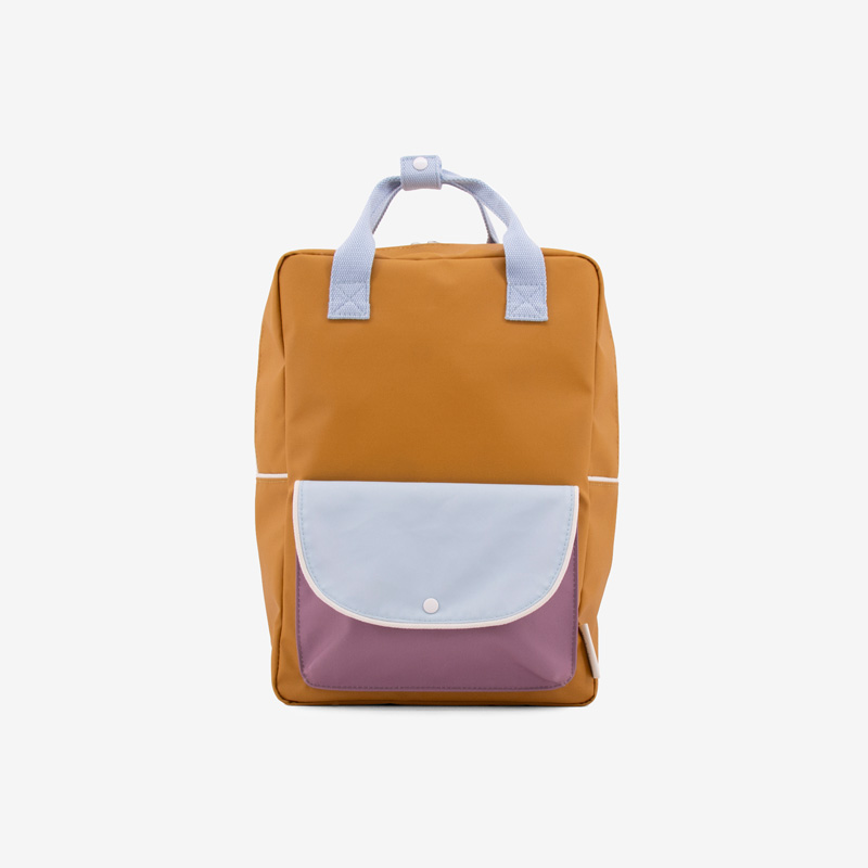 Sticky_Lemon_wanderer_backpack_large_caramell_blue_purple_front