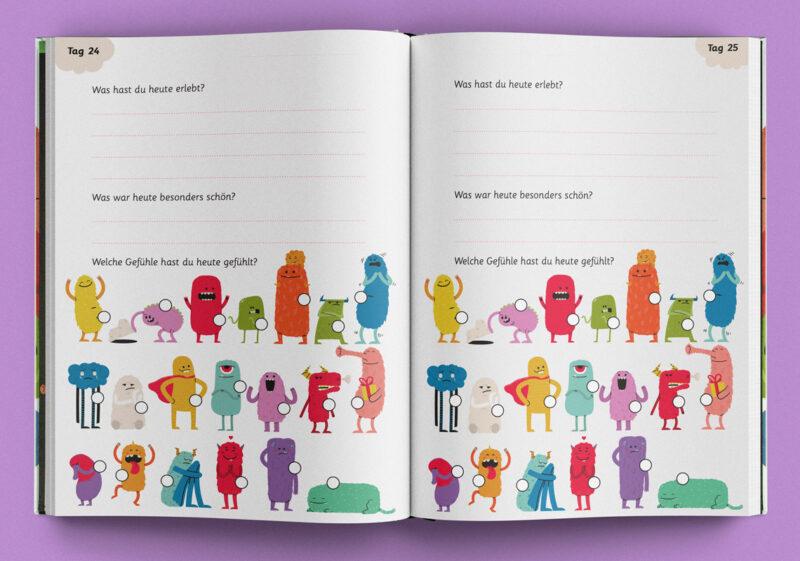 Tagebuchseite und Gefühle