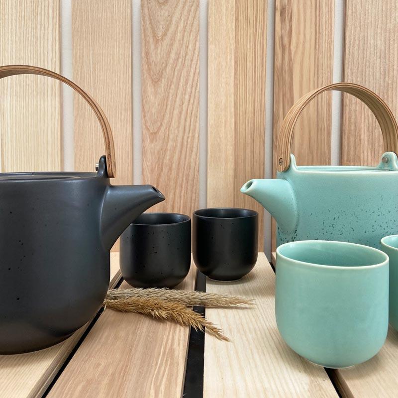 Teekannen schwarz mint