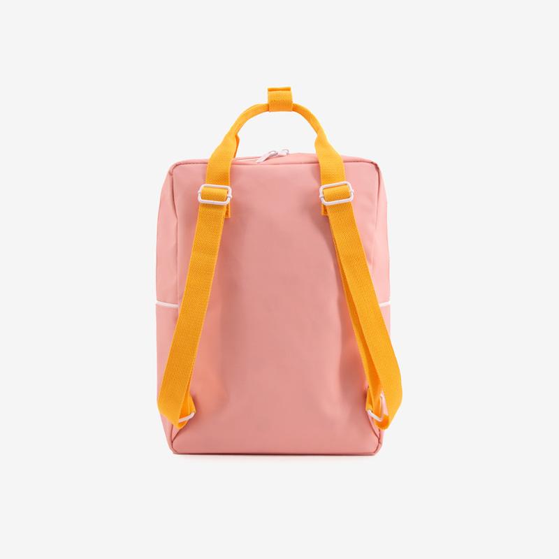 ticky_Lemon_wanderer_backpack_large_-_candy_pink_+_sunny_yellow__carrot_orange_back