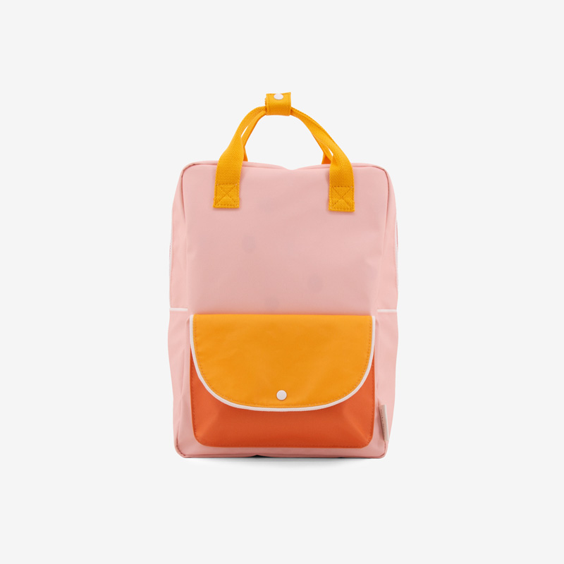 ticky_Lemon_wanderer_backpack_large_-_candy_pink_+_sunny_yellow__carrot_orange_front