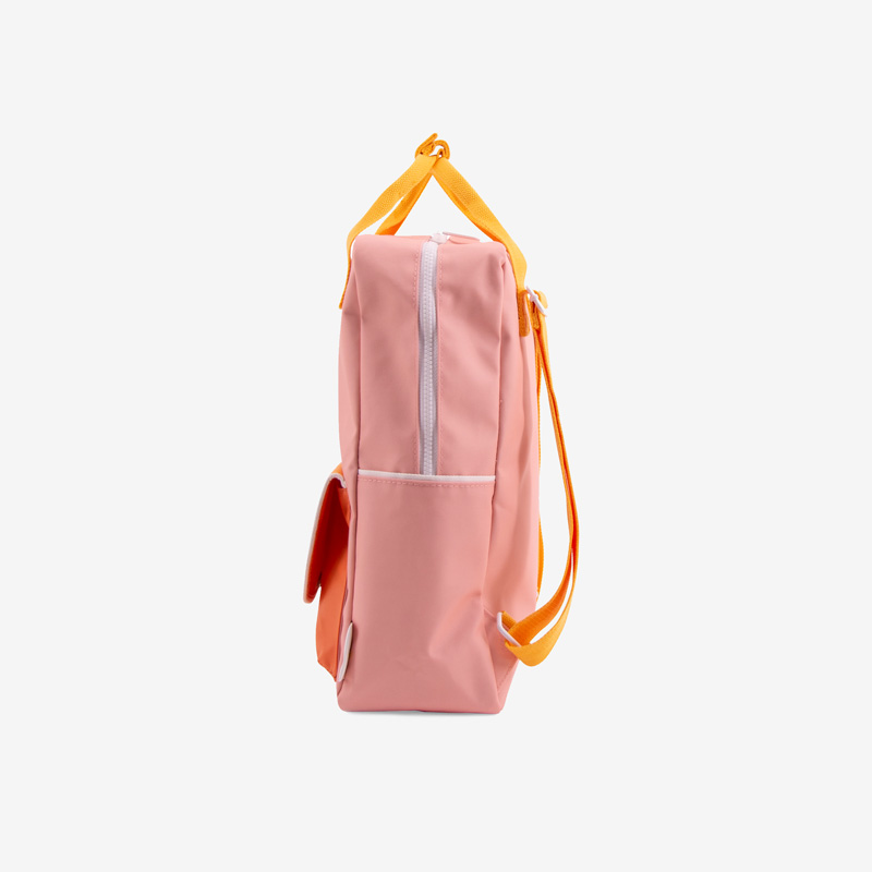 ticky_Lemon_wanderer_backpack_large_-_candy_pink_+_sunny_yellow__carrot_orange_seitlich